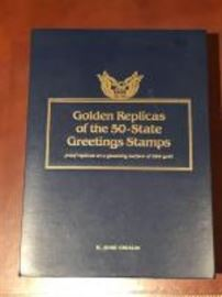 22 kt gold replica stamp proofs