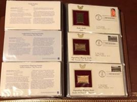 22 kt gold replica stamps