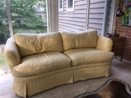 Thomasville Sofa - great condition.  Bright yellow perfect for sunroom or any room!