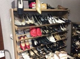 Tons of women's shoes. Various sizes and styles