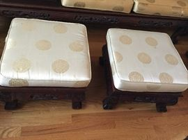 Ottomans for the chairs, or to use as seats for tea or with coffee table