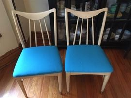 Pair of 1959 Keller danish modern dining chairs