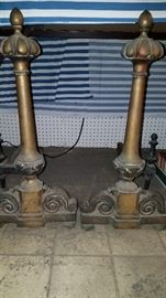 Cast iron andirons