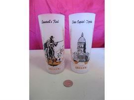 Vintage Kansas Collectible Drinking Glasses