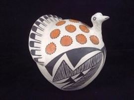 Acoma New Mexico Native American Pottery Rooster