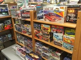 model car kits - most new in the box