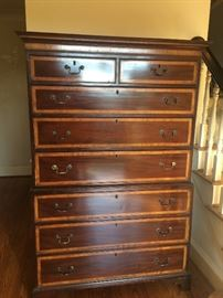 Antique Gentleman`s Chest on Chest 2 pc.