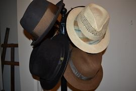 designer men's fedoras and hats