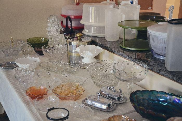 Carnival Glass, Crystal, Milk Glass