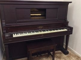 Peabody Piano Co., Baltimore. Player Piano. Serial Number 58281. Seaverns Piano Action.