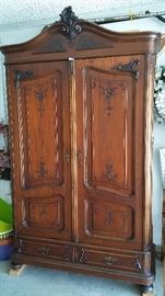 Antique French carved armoire. 2 of 2 ($1,800 each)