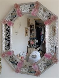 Vintage Venetian glass mirror