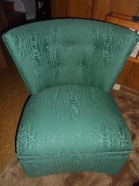 Mid-century turquoise chair