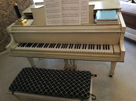 White  Knabe Grand Piano