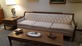 Clean sofa, coffee table