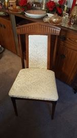 Dining tanle chair detail.....vinyl covered....excellent