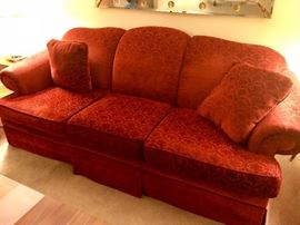 Upholstered Couch & Love Seat Set by Rowe!