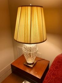 Cut Crystal Oriental Style Vase Lamps