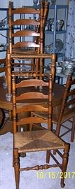 6 Shaker ladder back chairs
