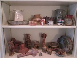 Sculpture, clay and pottery pieces