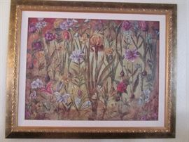 Wonderful collection of floral-themed framed art