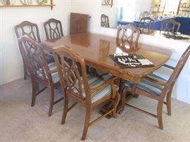 Lovely Traditional Dining Room Table/6 Chairs.  Look at the details in the next few photos.