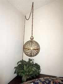 Two Mid Century hanging lamps.