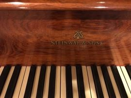 Beautiful Late 1800's Steinway Grand Piano with Ornate, Rosewood case