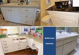 Bathroom Vanities, counter tops and fixtures, faucets - all is for sale