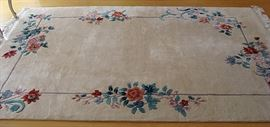 Wool sculptured Chinese rug-signed!