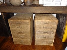 Pair of Japanese 4-drawer chests (these are end table size)