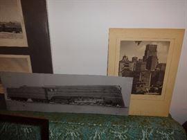 Train photo on metal; San Francisco photo.