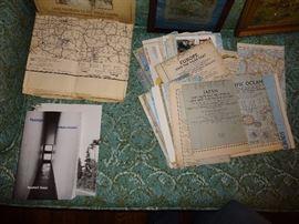 Vintage maps; sculpture book