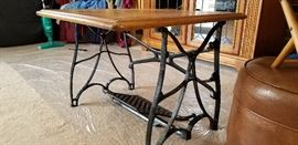 Vintage Sewing Machine Base Coffee Table