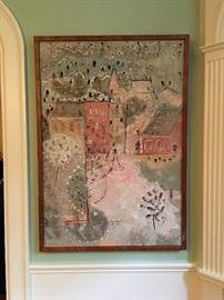David Foster Pratt, Mission, Oil on Canvas
