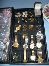 COSTUME JEWELRY, WATCHES