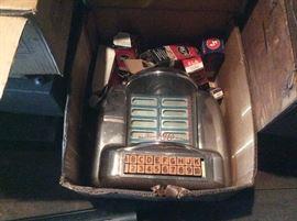 Vintage table top juke box