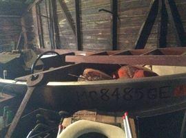 1950's boat wooden dash