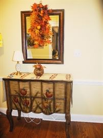 Lovely hand painted entryway chest/buffet