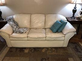 Nice leather sofa.