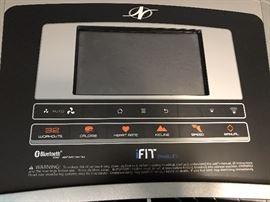 Detail of treadmill control panel.