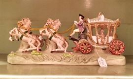 Porcelain French carriage & coach driver