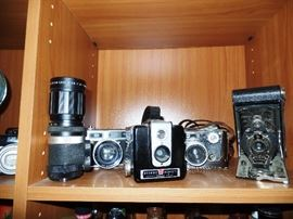 A close up to some of the cameras