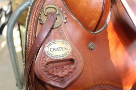 Horse Crates western saddle