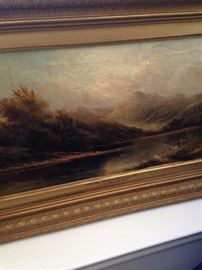 "More antique art work - ""The Banks of the  Llugwy"" by J.D.  Adams RBA"