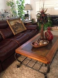 Large sofa; great art; sturdy coffee table