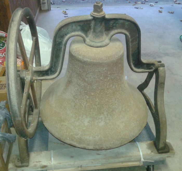 NO. 24 Cast Iron Ancient School or Church Bell.  LOVE BELLS!! Bought in 1966