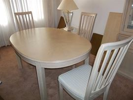 Dining Room Table, 4 Chairs with Leaves