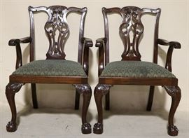 #6858 Pair Lexington Chippendale chairs