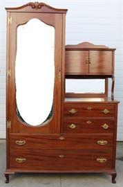 #6929 Side by side wardrobe, stand, dresser